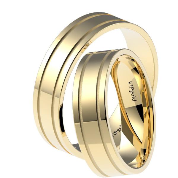 Svadobné obrúčky 7332 - žlté zlato