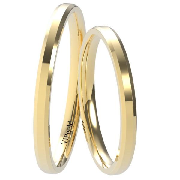 Svadobné obrúčky 9001/2 - žlté zlato