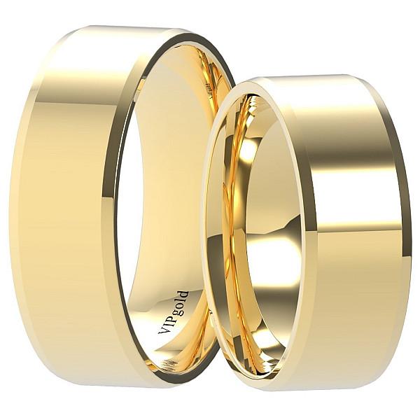 Svadobné obrúčky 9001/7 - žlté zlato