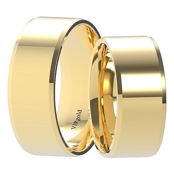 Svadobné obrúčky 9001/8 - žlté zlato