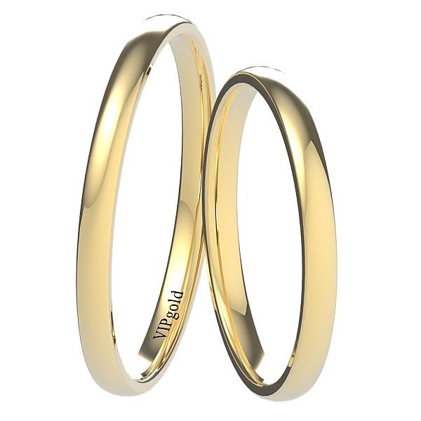 Svadobné obrúčky 9002/2 - žlté zlato