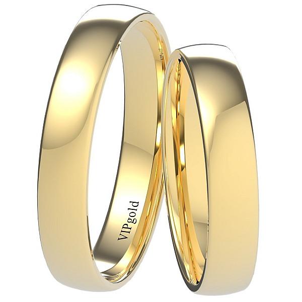 Svadobné obrúčky 9002/4 - žlté zlato