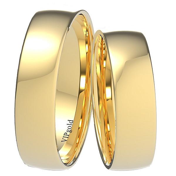 Svadobné obrúčky 9002/5,5 - žlté zlato