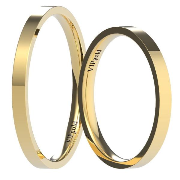 Svadobné obrúčky 9003/2 - žlté zlato