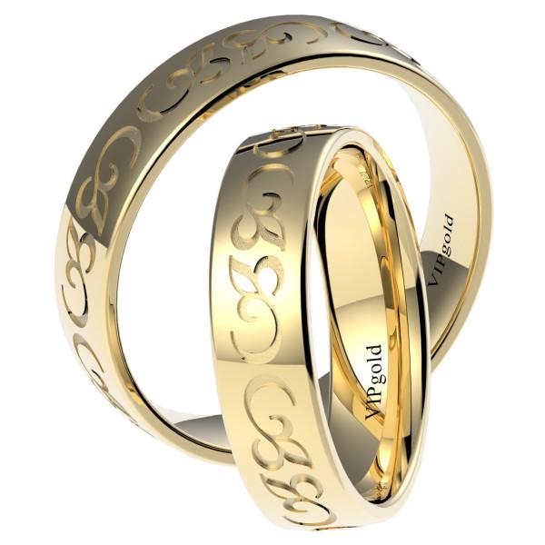 Svadobné obrúčky 7324 - žlté zlato