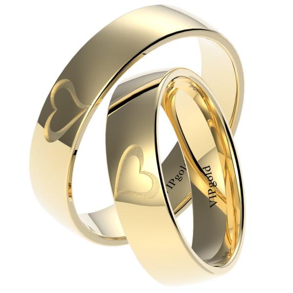 Svadobné obrúčky 7325 - žlté zlato