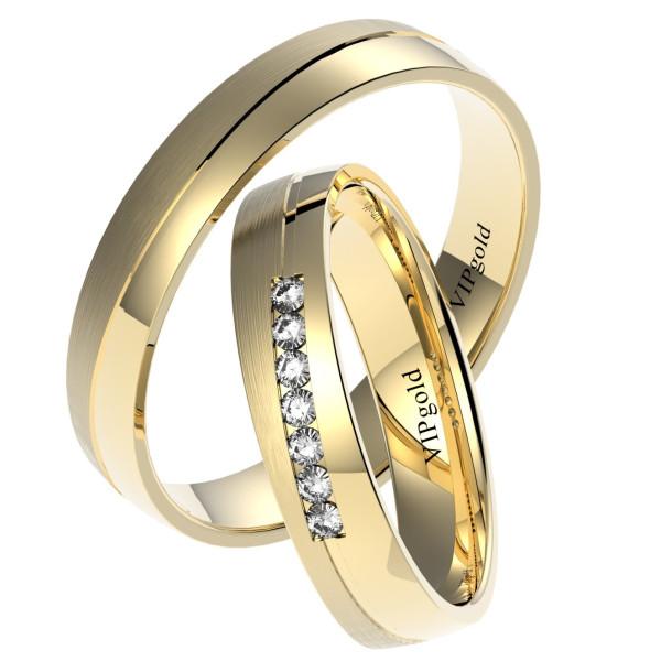 Svadobné obrúčky 7420 - žlté zlato