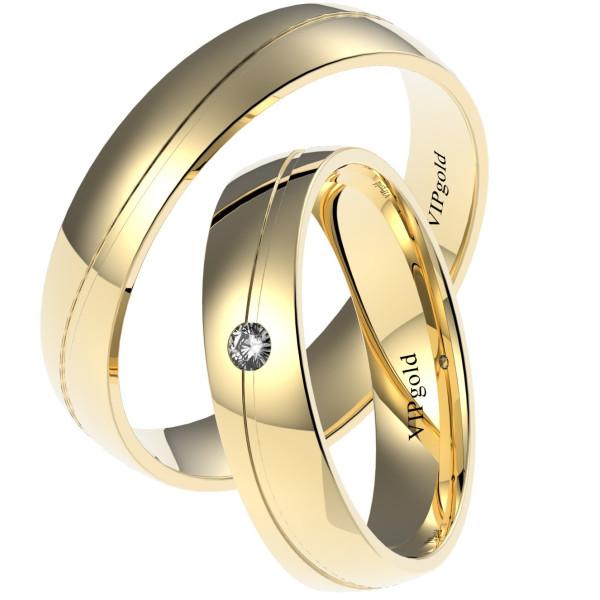 Svadobné obrúčky 7421 - žlté zlato