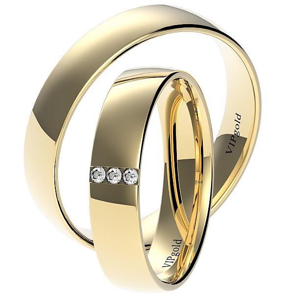 Svadobné obrúčky 7425 - žlté zlato