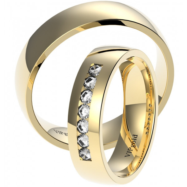 Svadobné obrúčky 7429 - žlté zlato