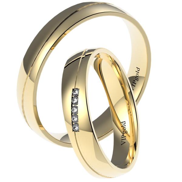 Svadobné obrúčky 7431 - žlté zlato