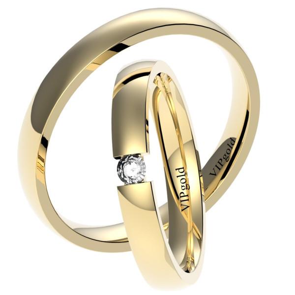 Svadobné obrúčky 7432 - žlté zlato