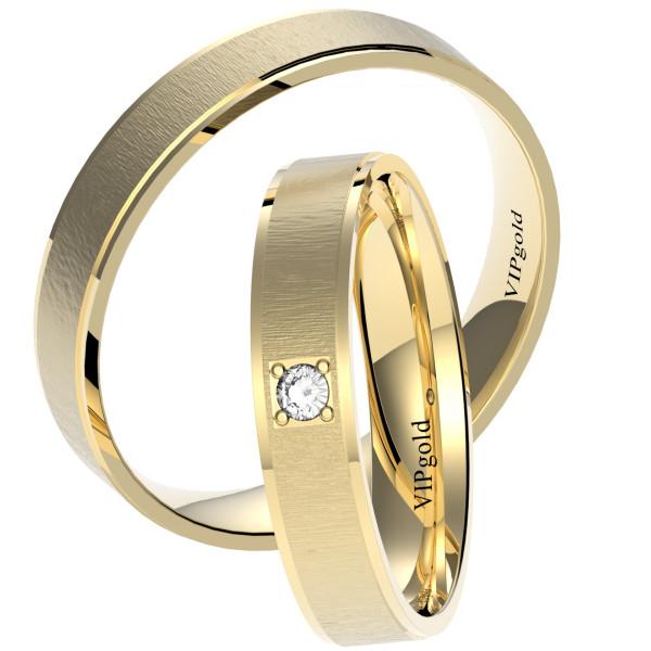 Svadobné obrúčky 7434 - žlté zlato