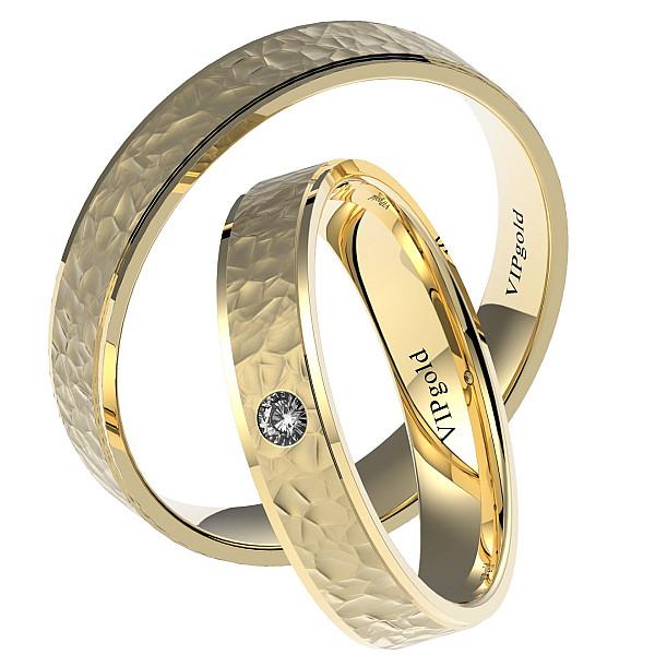 Svadobné obrúčky 7435 - žlté zlato