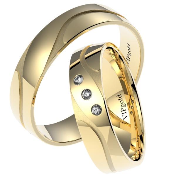 Svadobné obrúčky 7439 - žlté zlato