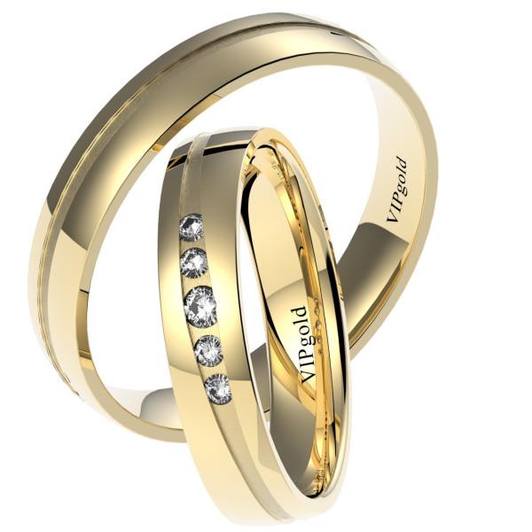 Svadobné obrúčky 7444 - žlté zlato