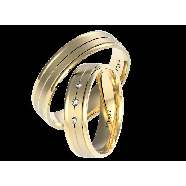 Svadobné obrúčky 7446 - žlté zlato