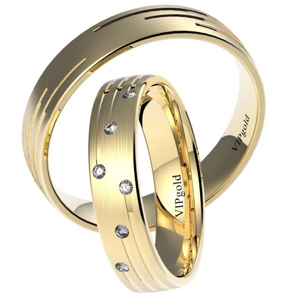 Svadobné obrúčky 7448 - žlté zlato