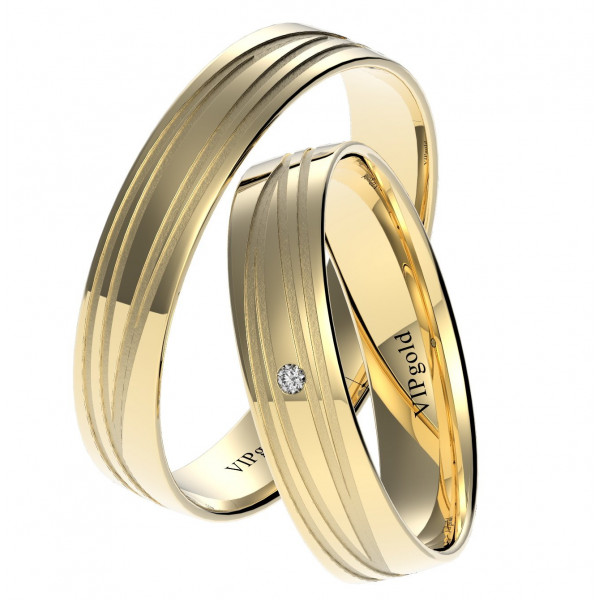 Svadobné obrúčky 7450  - žlté zlato