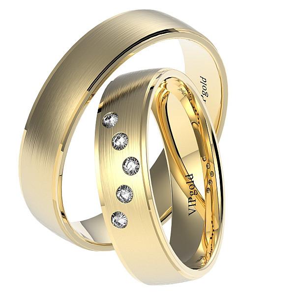 Svadobné obrúčky 7451 - žlté zlato