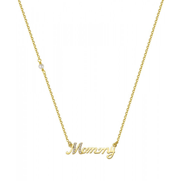 Zlatý náhrdelník 1025z Mommy
