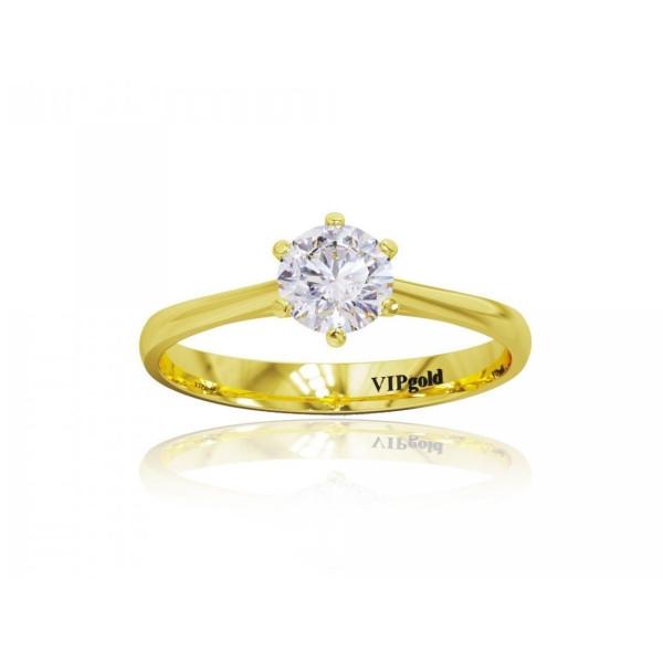 Zásnubný prsteň s briliantmi 0512.0,30z žlté zlato