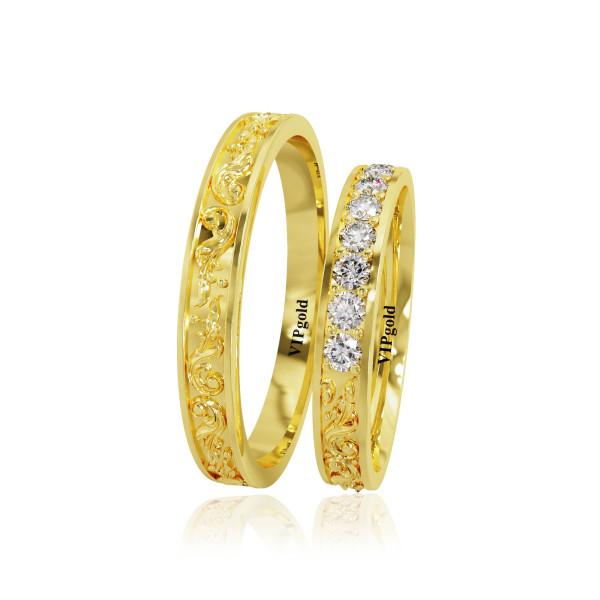 Svadobné obrúčky 20002 - žlté zlato