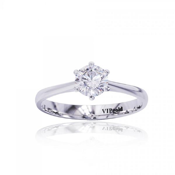 Zásnubný prsteň s briliantmi 0512.0,30 biele zlato