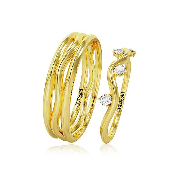 Svadobné obrúčky 20003 - žlté zlato