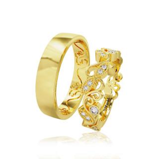 Svadobné obrúčky 20009 - žlté zlato
