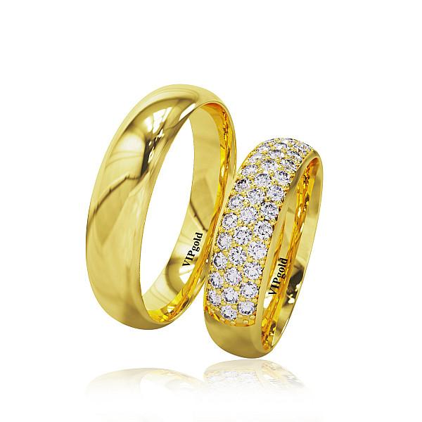Svadobné obrúčky 20010 - žlté zlato