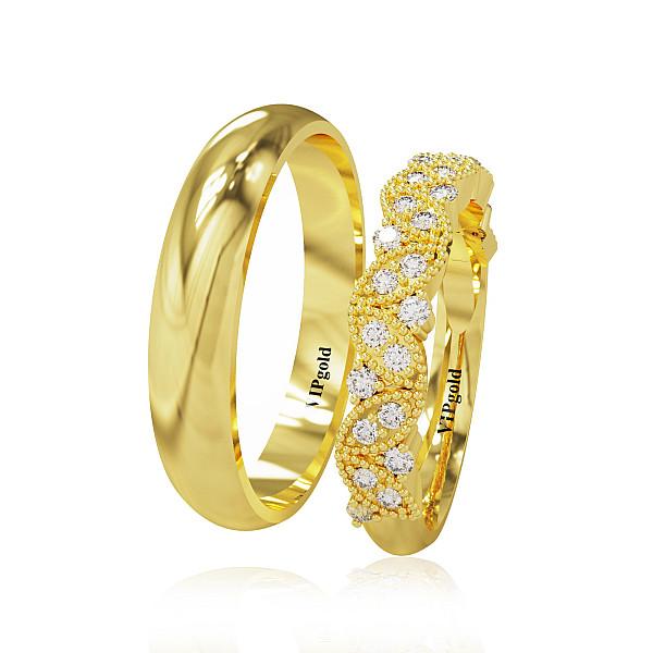 Svadobné obrúčky 20011 - žlté zlato