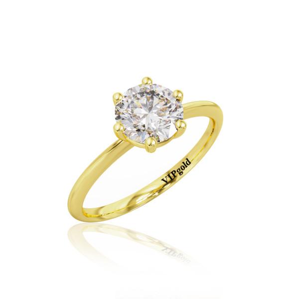 Zásnubný prsteň R3534.3z žlté zlato