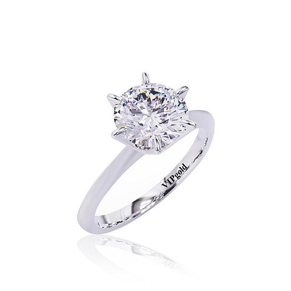 Zásnubný prsteň R31282 biele zlato