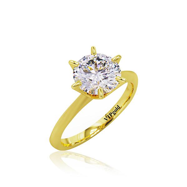 Zásnubný prsteň R31282z žlté zlato