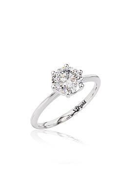 Zásnubný prsteň R3534.3 biele zlato